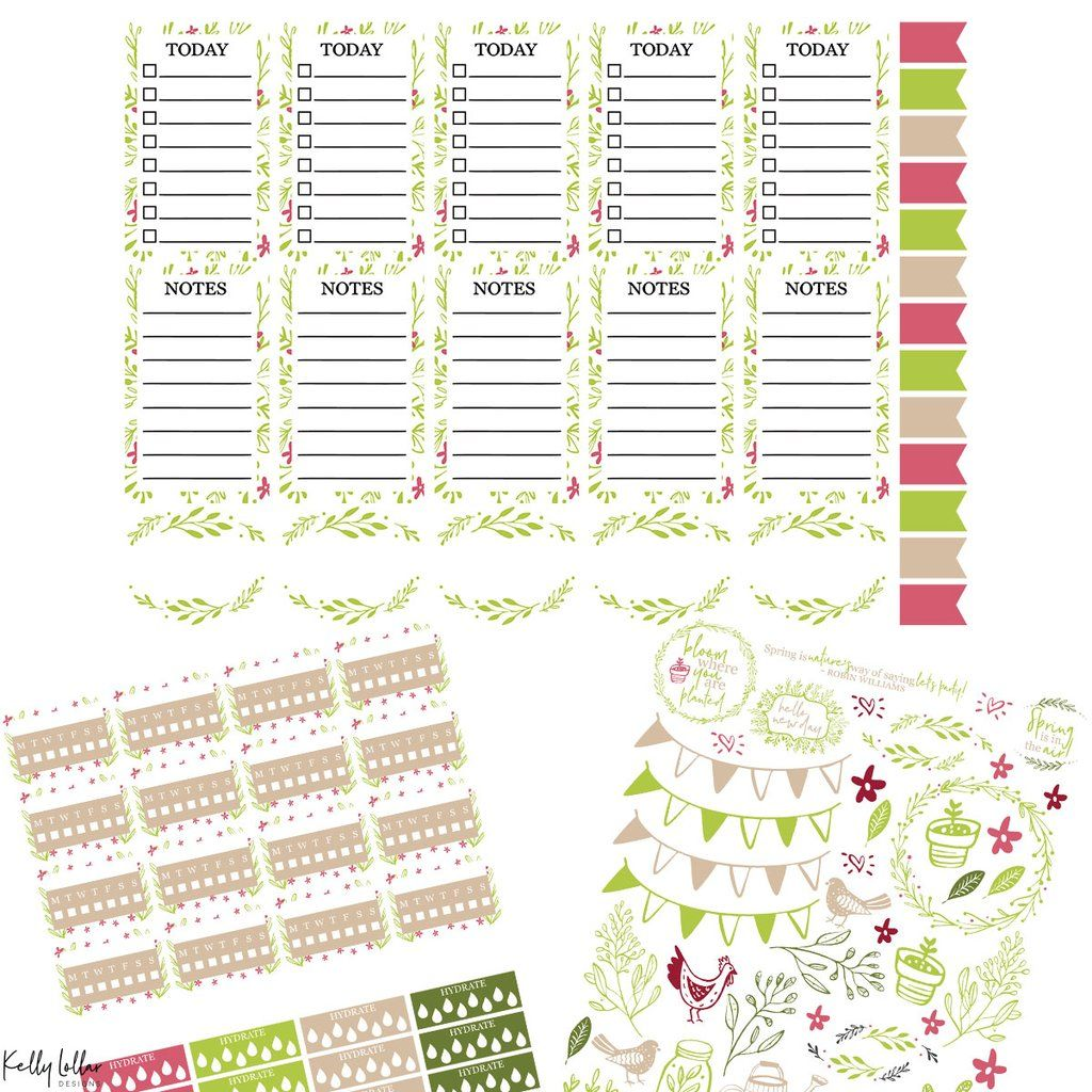 Monthly Freebie | Free Planner Stickers | Planner stickers
