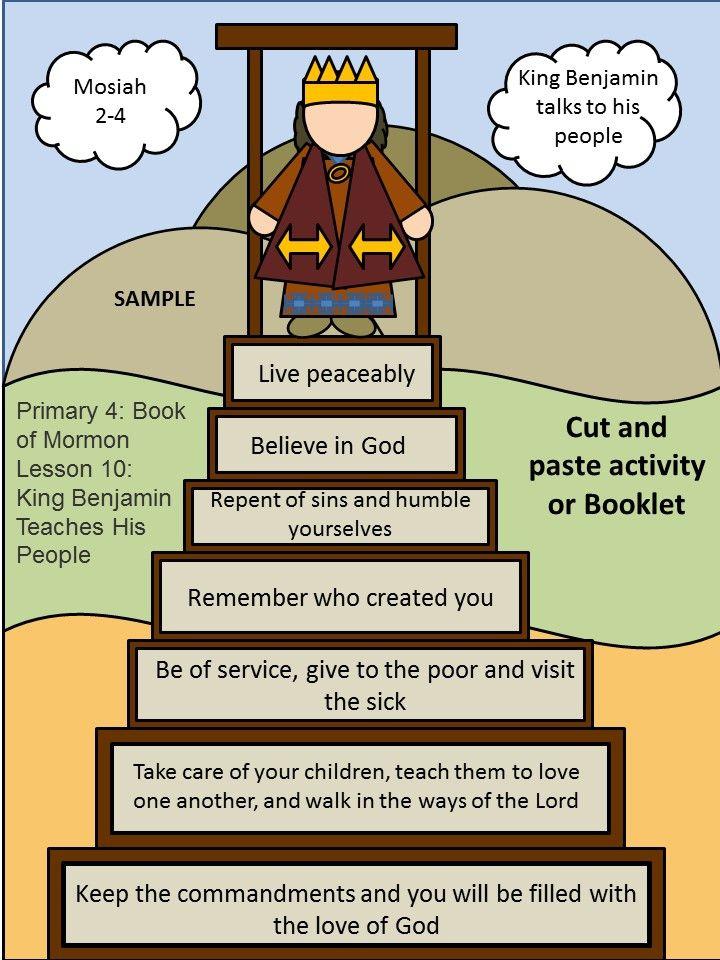 Lesson 10 King Benjamin Teaches The People Mosiah 2 4 Church