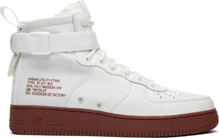SF Air Force 1 Mid 'Red Ivory' | Air force 1 mid, Air force