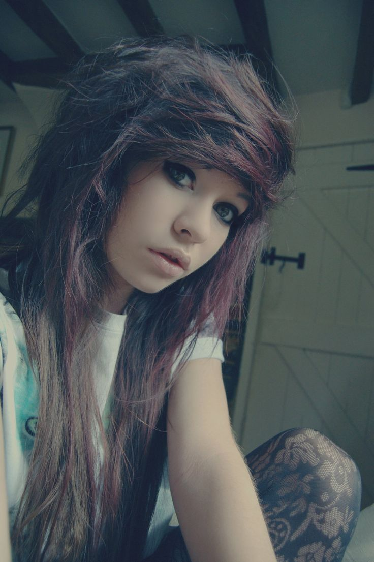 cute emo hairstyles for girls hair and beauty pinterest