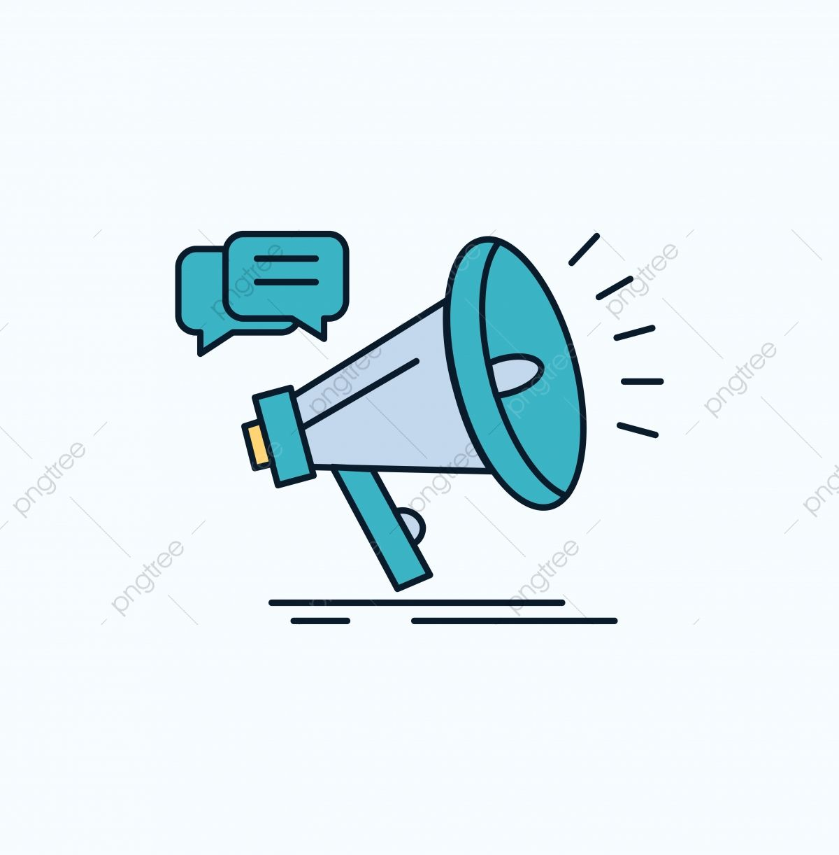 Marketing Megaphone Announcement Promo Promotion Flat Icon Advertisement Background Banner Png And Vector With Transparent Background For Free Download Em 2020