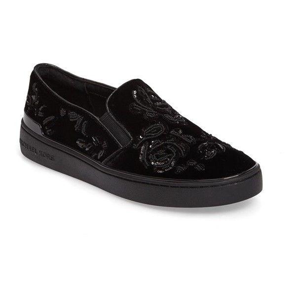 Women's Michael Michael Kors Kyle Slip-On Sneaker ($180) ❤ liked on Polyvore