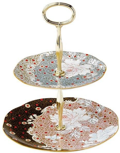 Wedgwood Daisy Tea Story Two-Tier Cake Stand