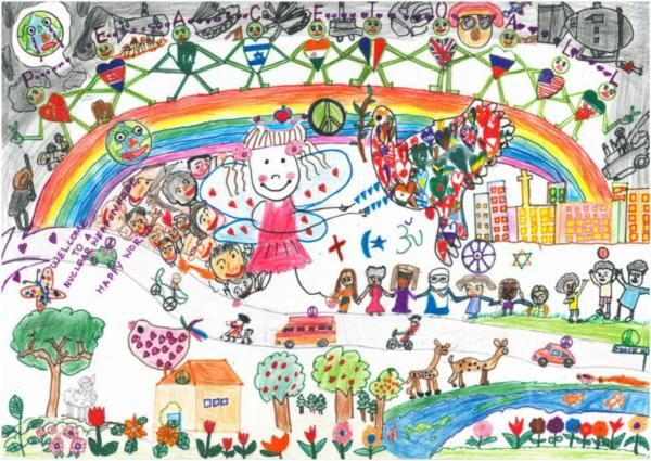 Happy World Without Nuclear Weapons By Prabhat P Age 6 Markers