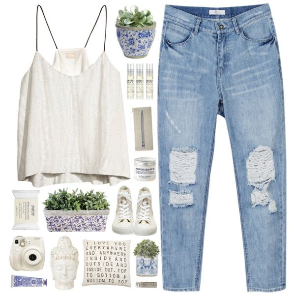 Chillin by child-of-the-tropics on Polyvore featuring polyvore fashion style H&M Converse Le Labo philosophy Korres L'Occitane Uptown Soap Co. Davines Thomaspaul Nearly Natural