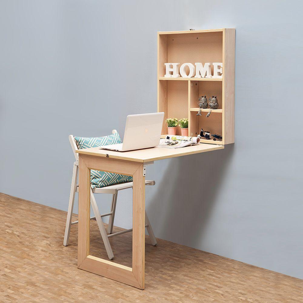 Fold up desk wish list en 2019 fold down desk small - Small corner desk with storage ...