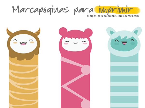 Marcapáginas para colorear. Free printable bookmark
