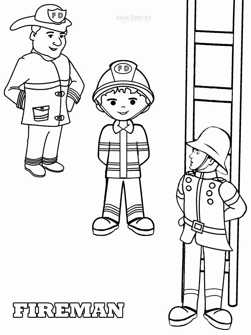Fire Fighter Coloring Page Luxury Free Printable Fireman Coloring Pages In 2020 Coloring Pages Ninjago Coloring Pages Tractor Coloring Pages
