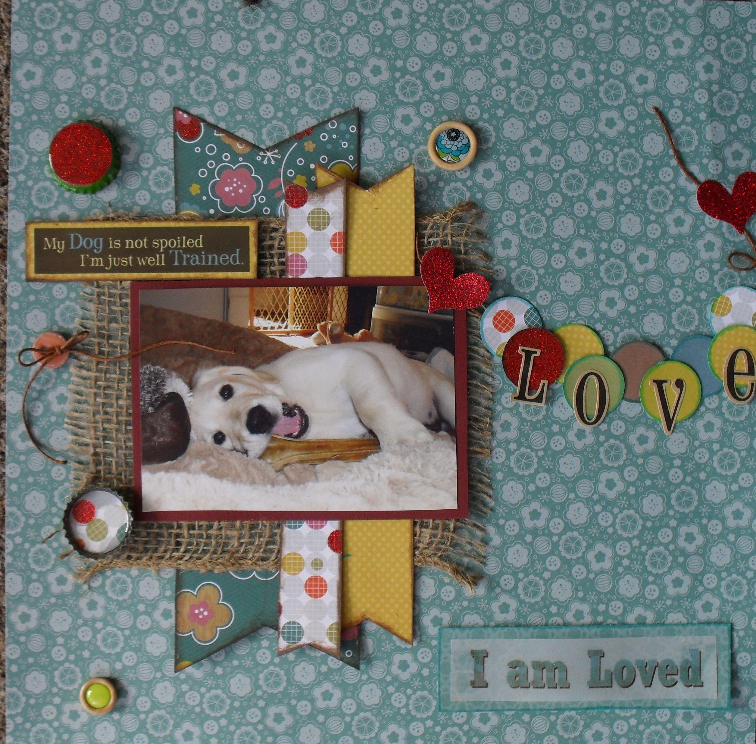 Scrapbook ideas for dogs -  I Am Loved Scrapbook Com
