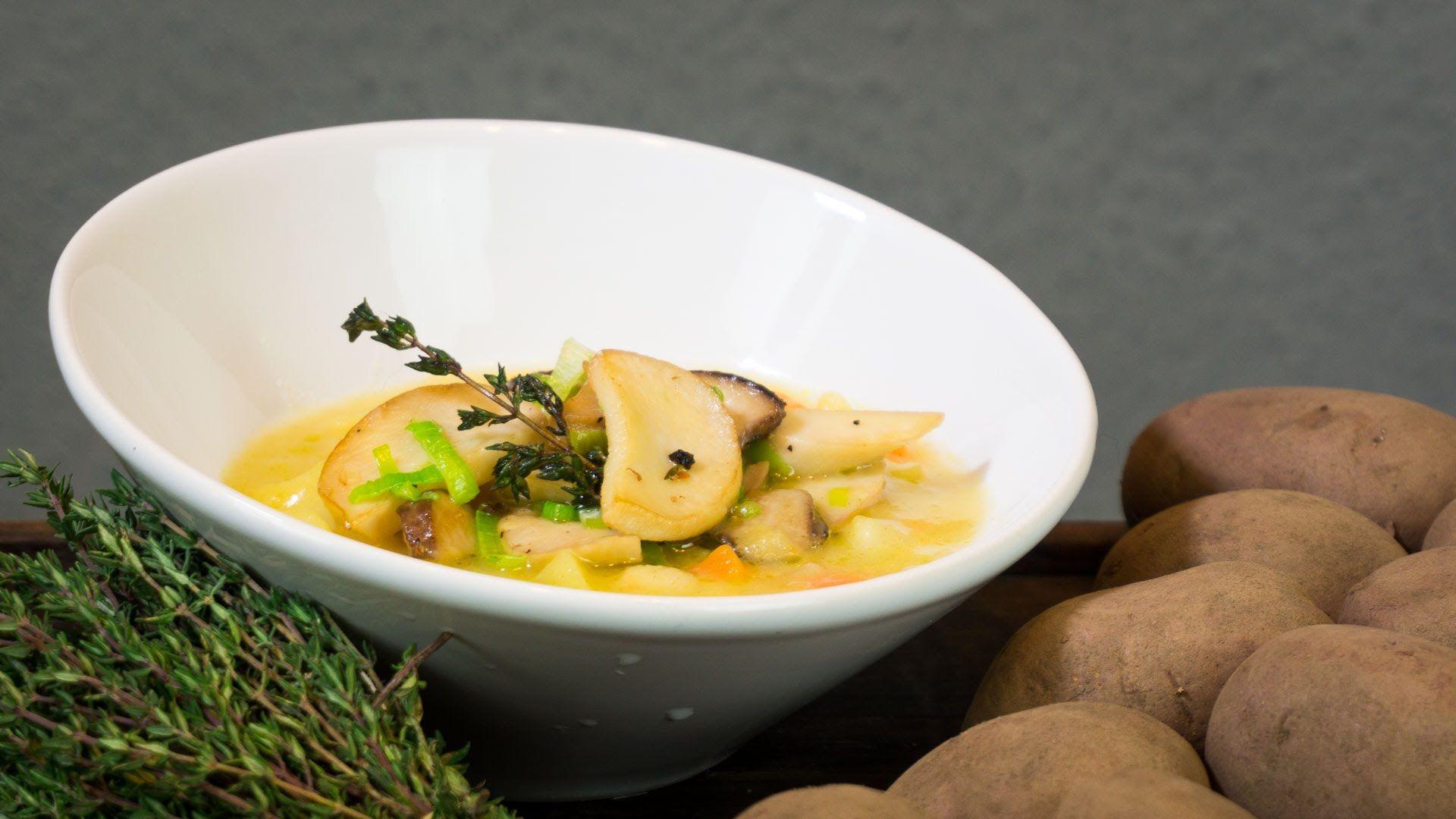Kartoffelsuppe mit Pilzen Rezept  Der Bio Koch #778