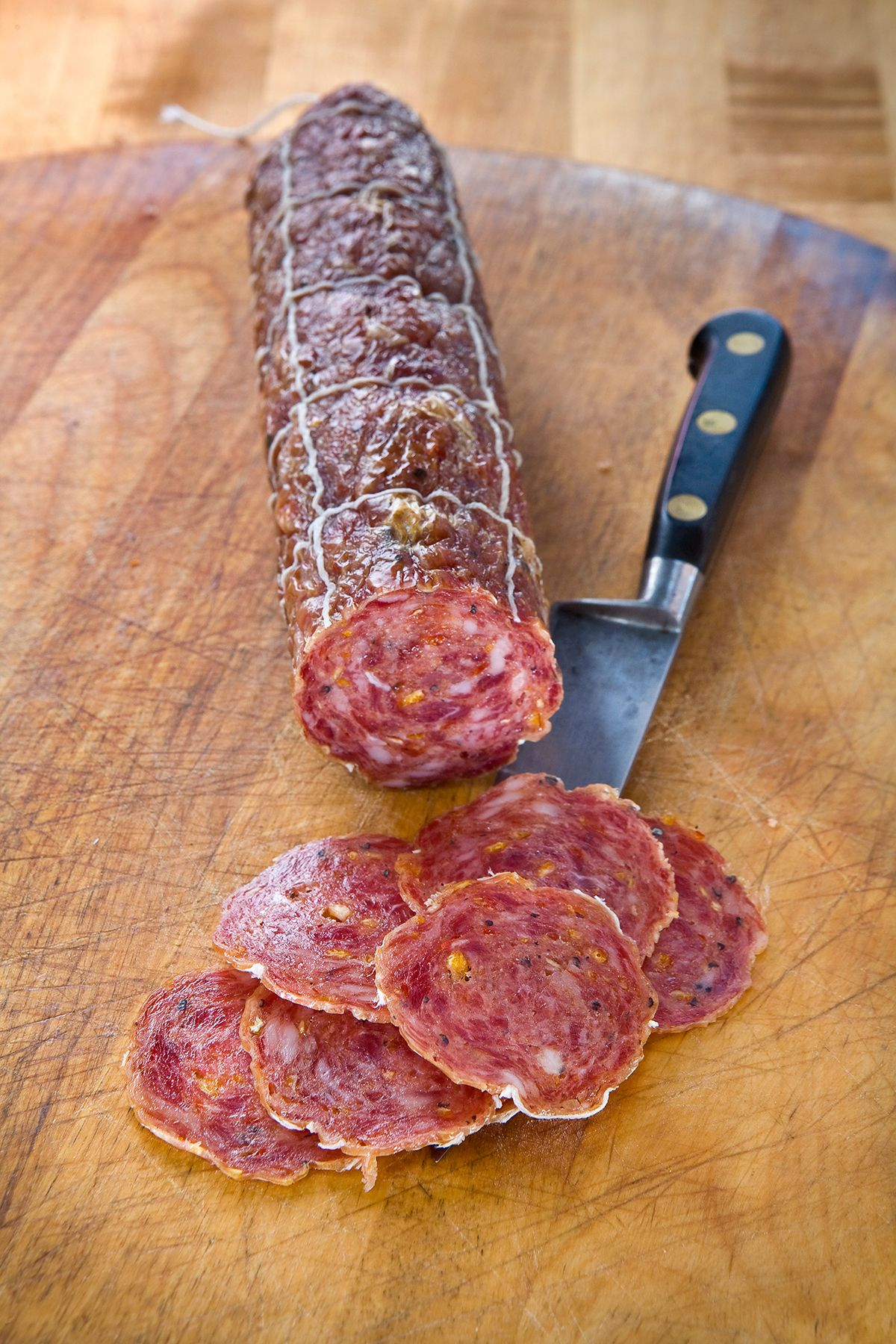 Agrumi Salami Salumi Artisan Cured Meats Seattle Wa A Recent Creation Cured With Citrus An Cured Meat Recipes Smoked Food Recipes Sausage Making Recipes