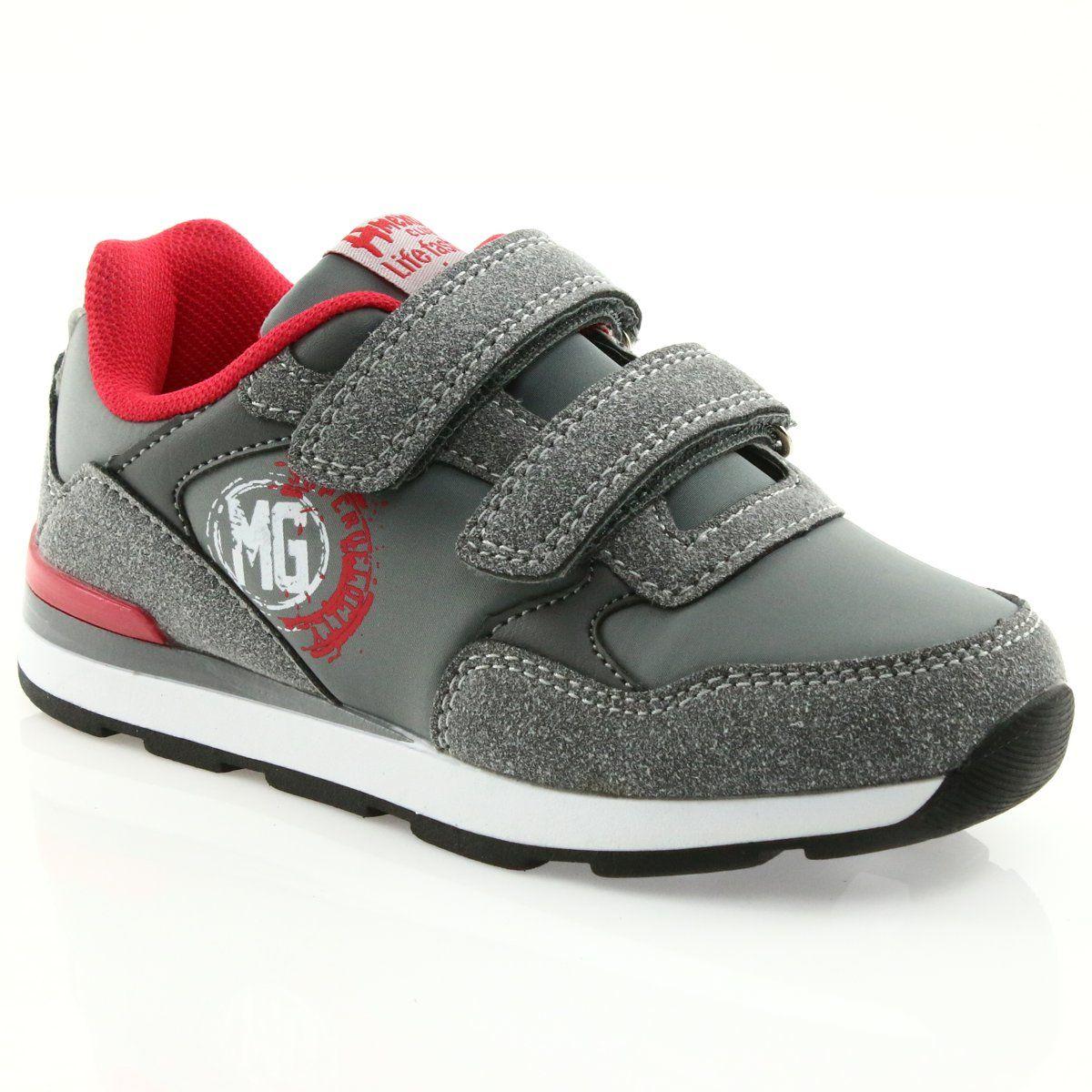 American Club Buty Sportowe Wkladka Skorzana American Bs08 Szare Czerwone New Balance Sneaker Dc Sneaker Shoes