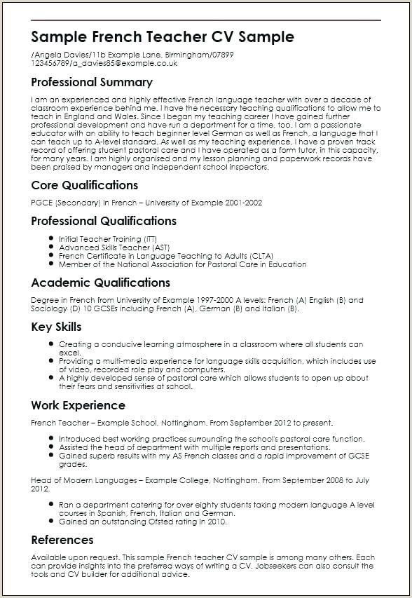 Cv format for Teaching Job In India Cv format for Teaching