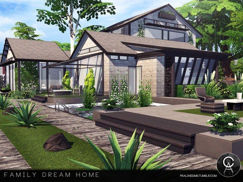 Family Dream Home Maison Sims Sims 4 Maison Maison Minecraft