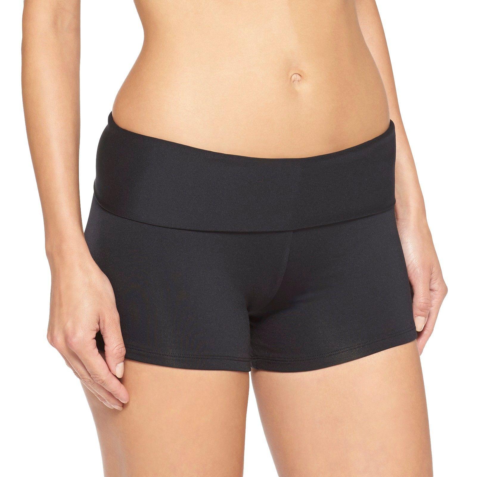 Women S Swim Short Black Xl Mossimo Swim Shorts Women Swim Suit Bottoms Modest Swimwear [ 1601 x 1601 Pixel ]