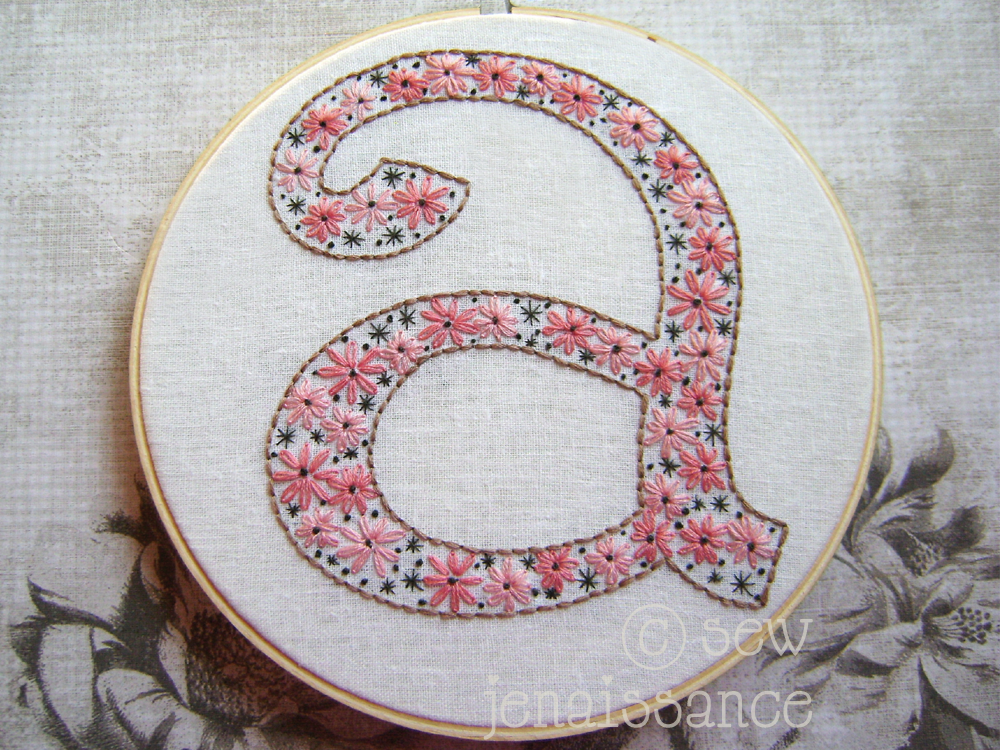 hand embroidery letter patterns embroidery pattern by sew jen embroidery pattern