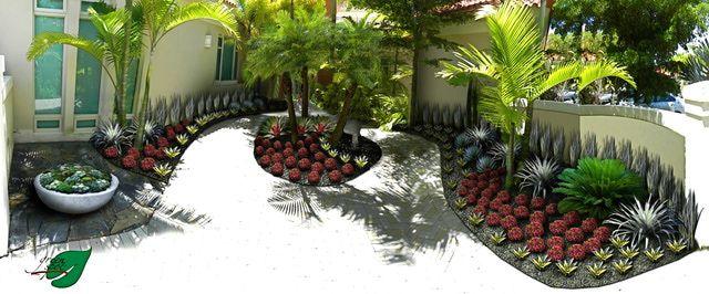 Dise os del jard n en zonas tropicales patio interior for Ver disenos de jardines