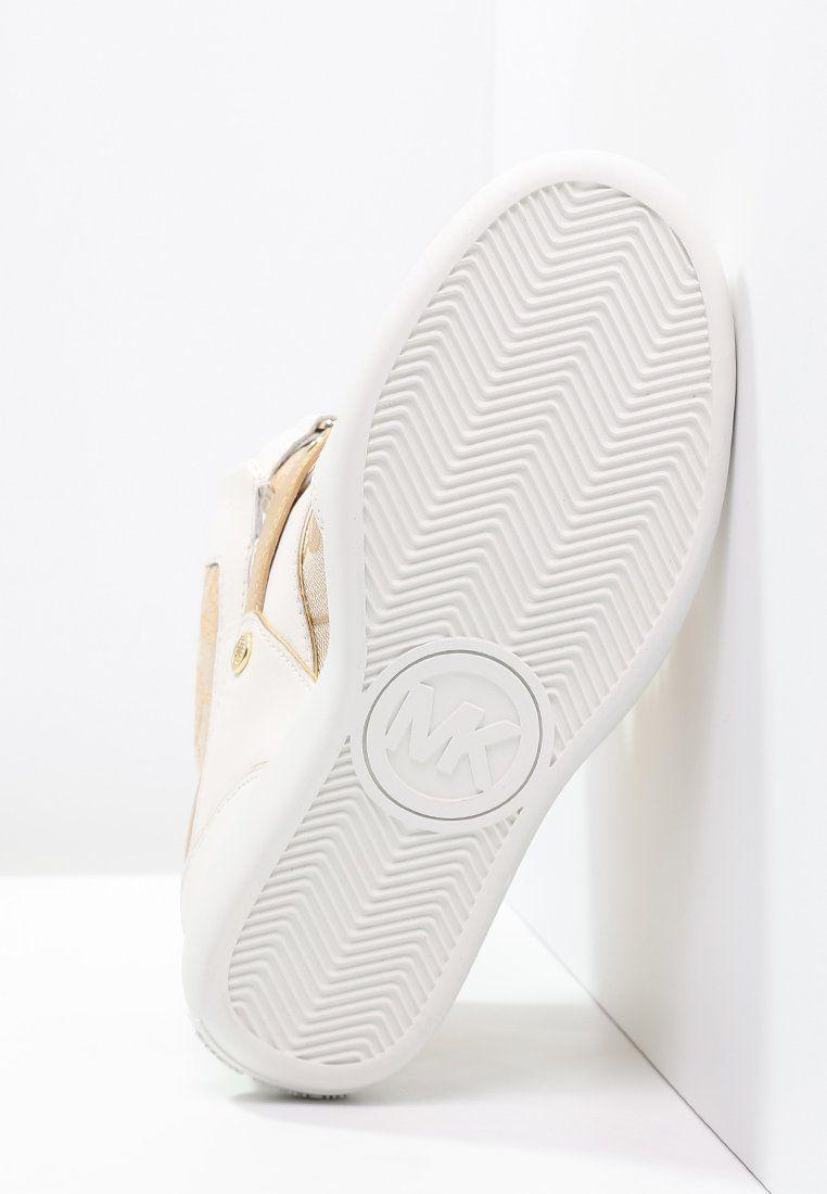 MICHAEL Michael Kors NIKKO - Sneakers hoog - beige/camel/gold - Zalando.nl
