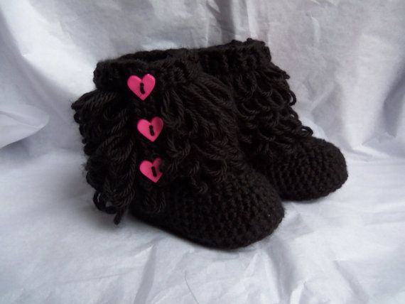 Cute for Valentines day! Baby Girl UGG Style Booties