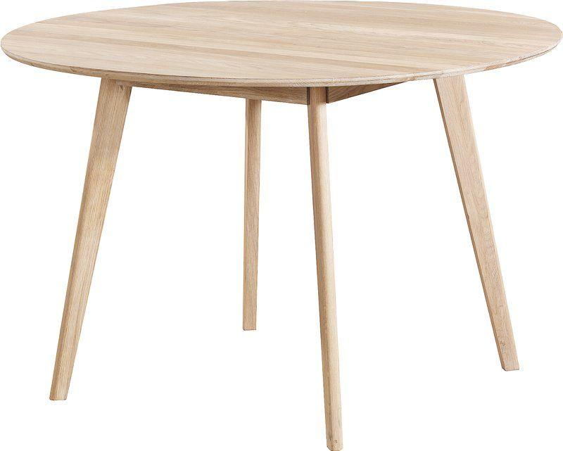 Yumi spisebordØ115 cm, hvitlasert eik Rundt spisebord