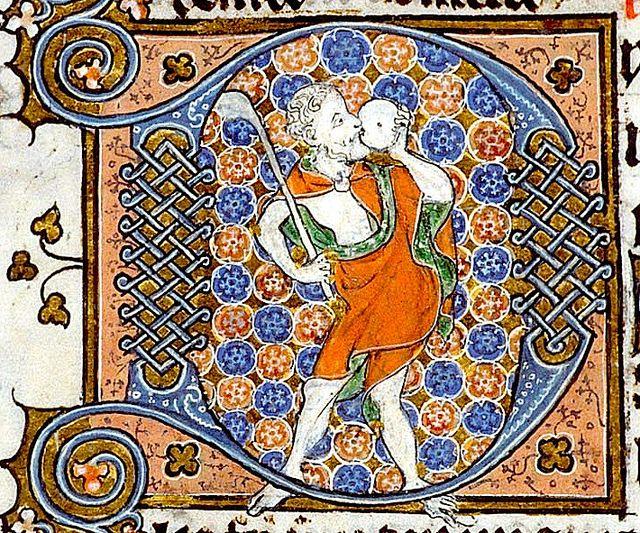 Fool. France. detail..YT 8 c.1302-03. BL