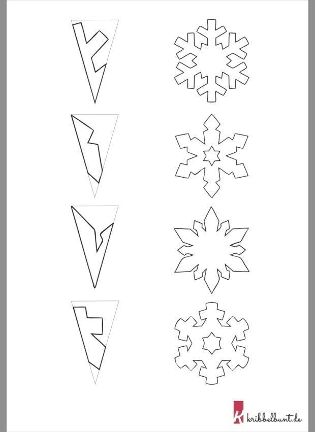 Schneeflocken Vorlage Zum Ausdrucken Pdf Kribbelbunt 3