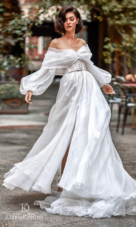 Daria Karlozi 2021 Graceful Dream Wedding Dresses Wedding Inspirasi In 2021 Wedding Dresses Wedding Dress Sleeves A Line Wedding Dress [ 1500 x 900 Pixel ]