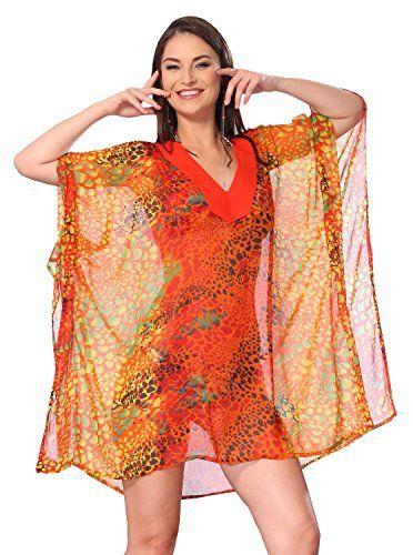 cc1a704e68d8e Lightweight Chiffon Loose Kimono Beachwear Swimwear Swimsuit Bikini Cover up  4X    This is an