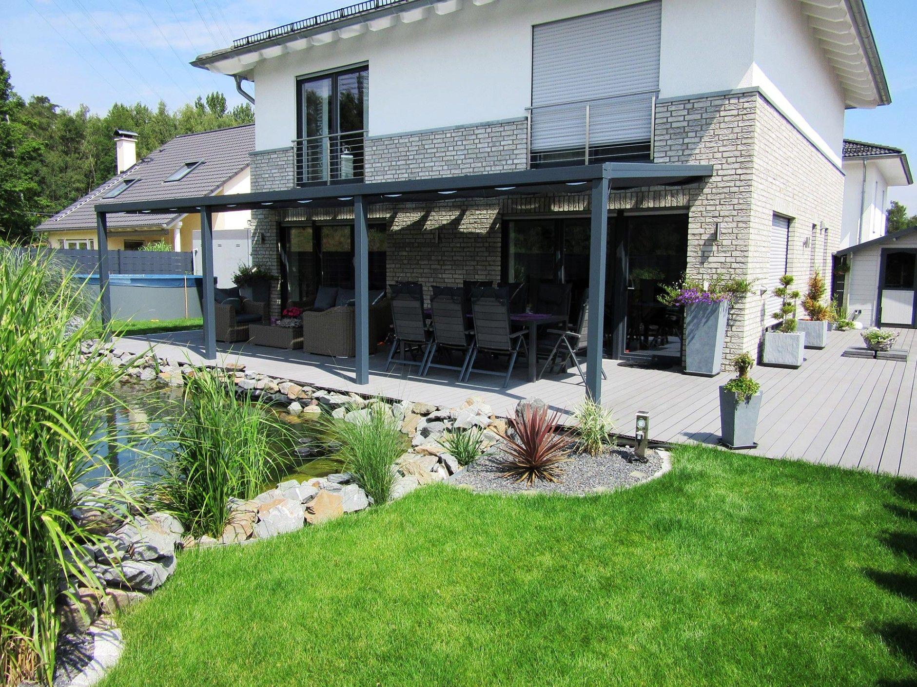 Terrassen Sichtschutz Rollo Terrassenüberdachung