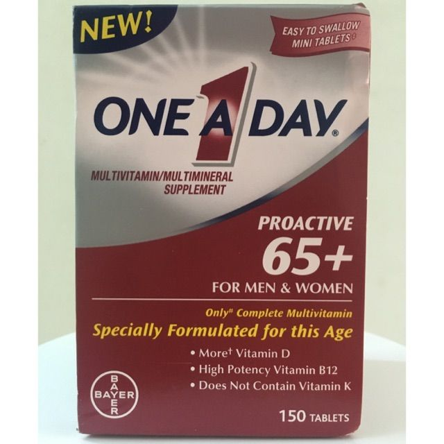 One A Day Proactive 65 For Men Website