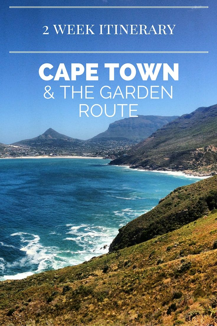 2 Week Itinerary for Cape Town & Garden Route, South