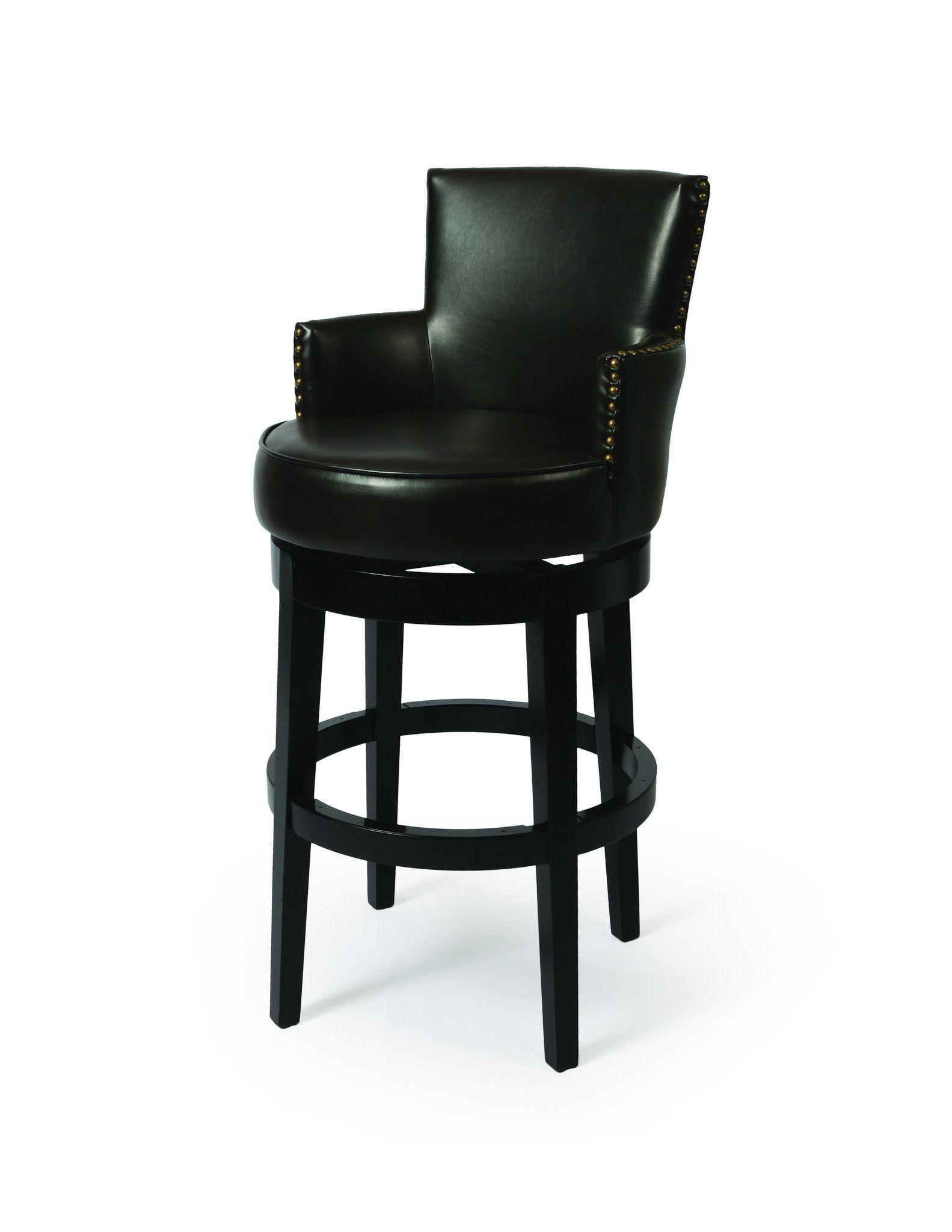 Enjoyable Harvey Haley 30 Barstool In Feher Black Upholstered In Inzonedesignstudio Interior Chair Design Inzonedesignstudiocom