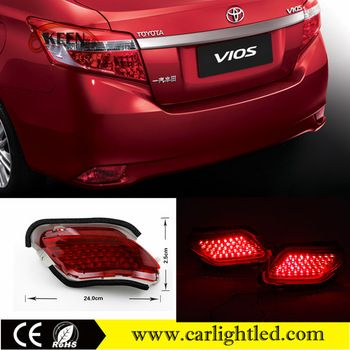 Car Accessories 12v For Toyota Vios Tail Light High Power Led Rear Bumper Reflector Taillights Brake Lights Toyota Vios Car Accessories Car