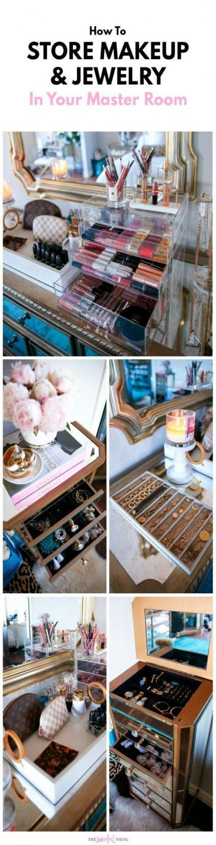 Trendy Closet Organization Schmuck Make-up Aufbewahrung 23 Ideen#designe #design…