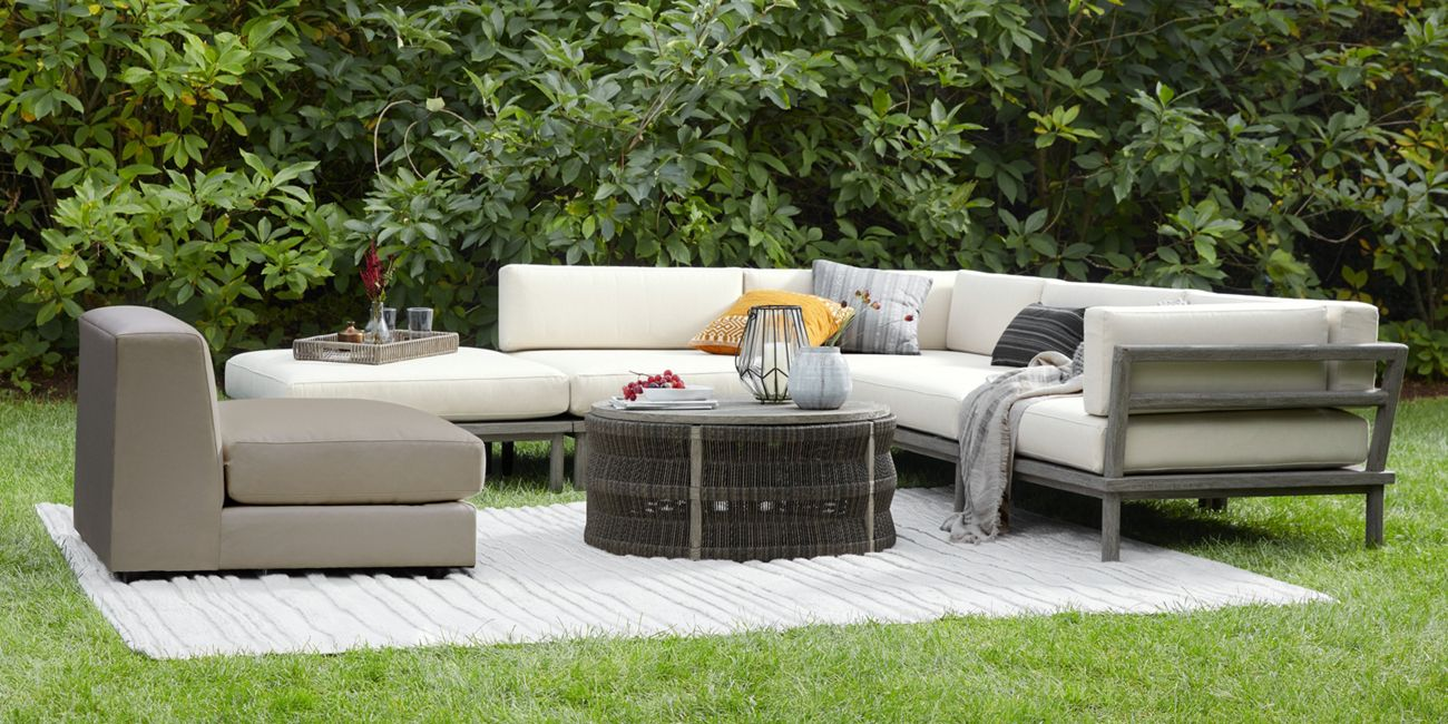 Costa Outdoor Five Piece Sectional Arhaus Furniture Arhaus Furniture Furniture Outdoor