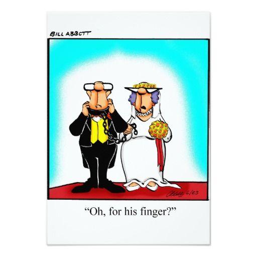 Humor Wedding Invitations: Funny Wedding Anniversary Party Invitations