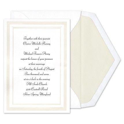 Pearl Border Invitations Birchcraft Wedding Invitations Invitations Wedding Stationary
