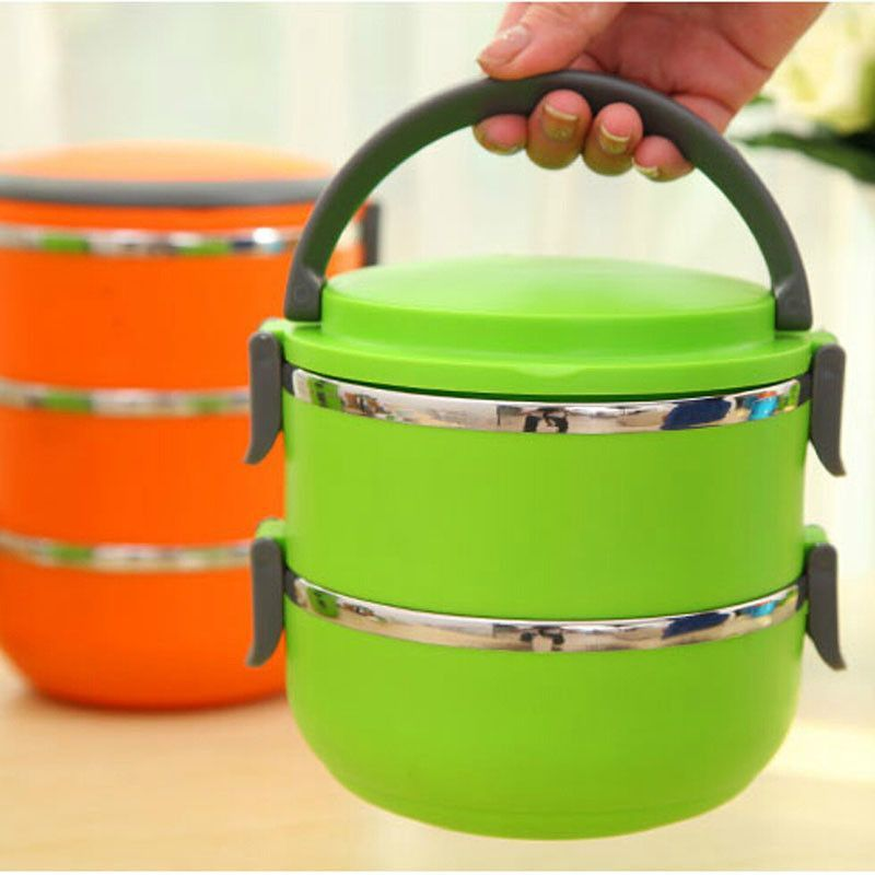 1Pcs Two Layers Baby Food Box Thermos Food Container Stainless Steel Insulation Storage food Container 1400ML & 1Pcs Two Layers Baby Food Box Thermos Food Container Stainless Steel ...