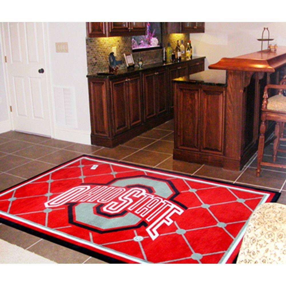 Ohio State Buckeyes Ncaa Floor Rug 60x96 Floor Rugs Rugs 5x8 Rug