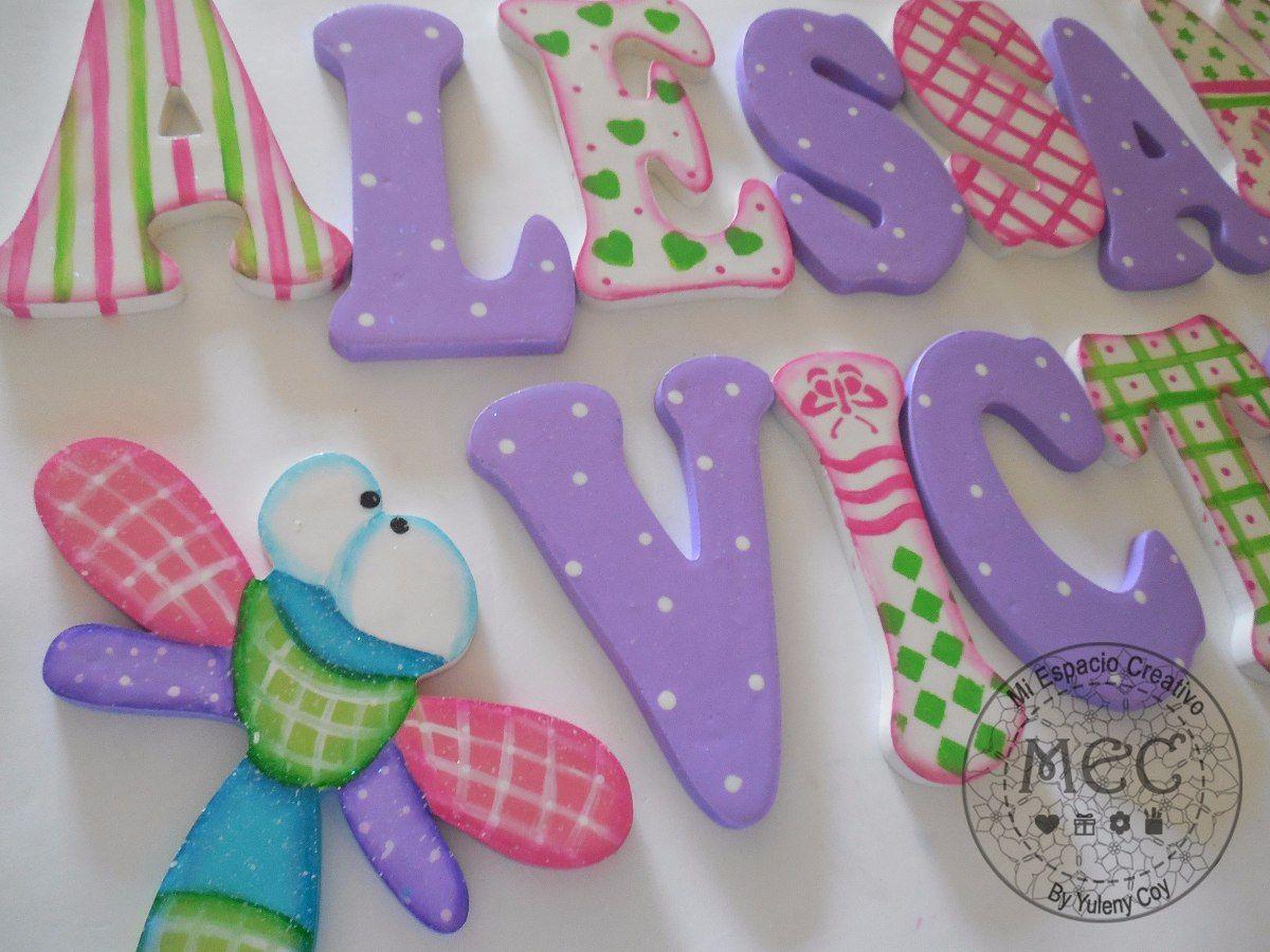 Nombres en madera para ni a bs 750 00 en mercadolibre - Letras decorativas para ninos ...