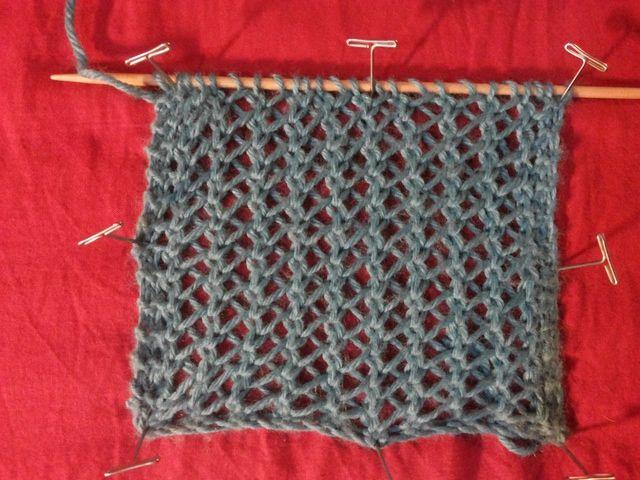 Punto calado red de pescador pescador el punto y redecilla - Puntos para tejer lana ...