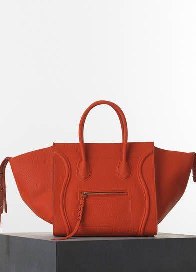 9fb2685587 Céline Medium Luggage Phantom Handbag in Burnt Orange Bullhide Calfskin