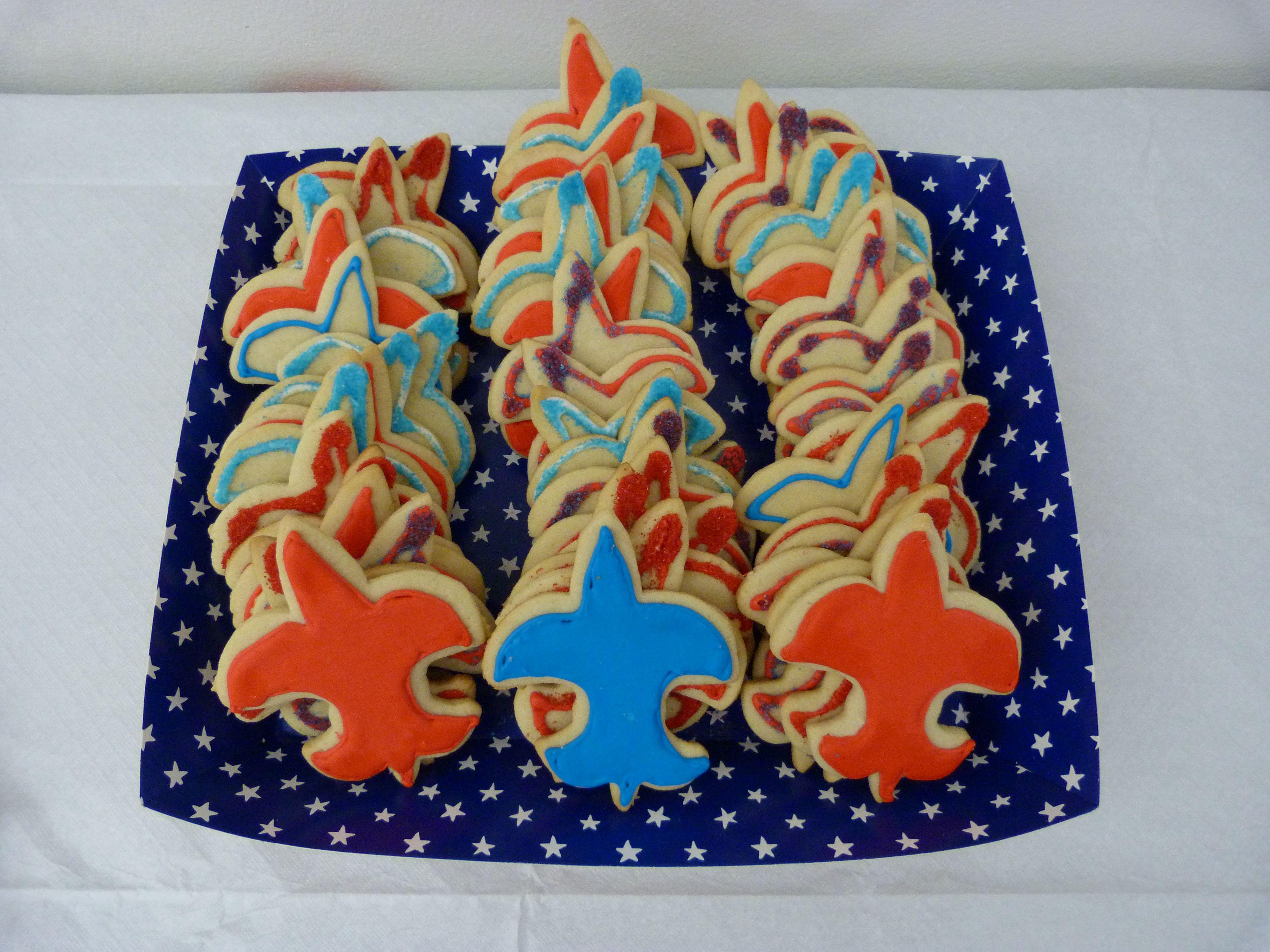 Sugar cookie fleur de leys