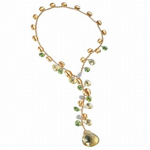 Marco Bicego Single Strand Lariat Necklace with Multi-Colored Gemstones