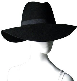 45cded278775ce ShopStyle: San Diego Hat Co. - Black Floppy Felt Fedora Wide-brim Hat