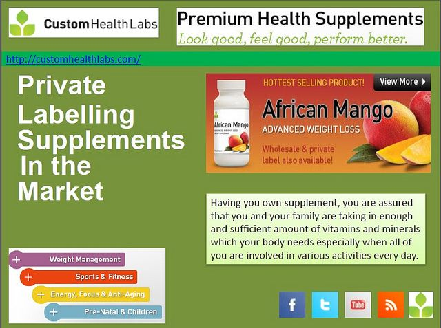 (customhealthlabs.com/) - Having you own supplement, you are assured that you and your family are taking in enough and sufficient amount of vitamins and minerals which your body needs especially when all of you are involved in various activities ever