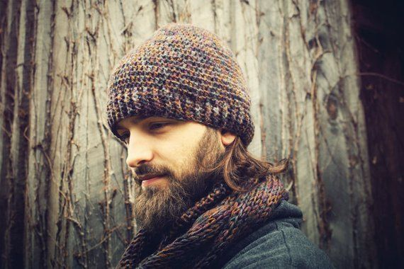 Mens Hat and Scarf Set 9e499373951