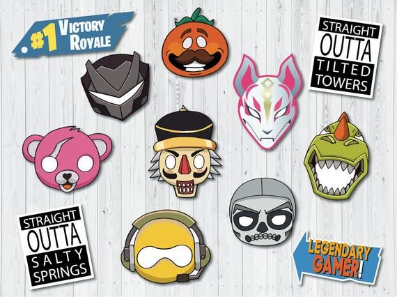 image relating to Fortnite Printable called Fortnite birthday bash props Fortnite masks Xmas picture