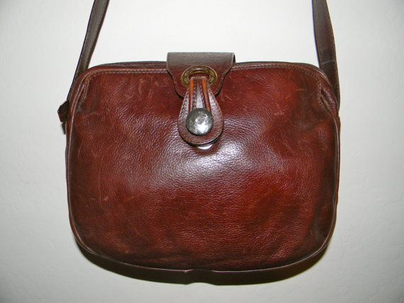 Vintage Brown Leather Handbag Italian The Softest Of Leathers