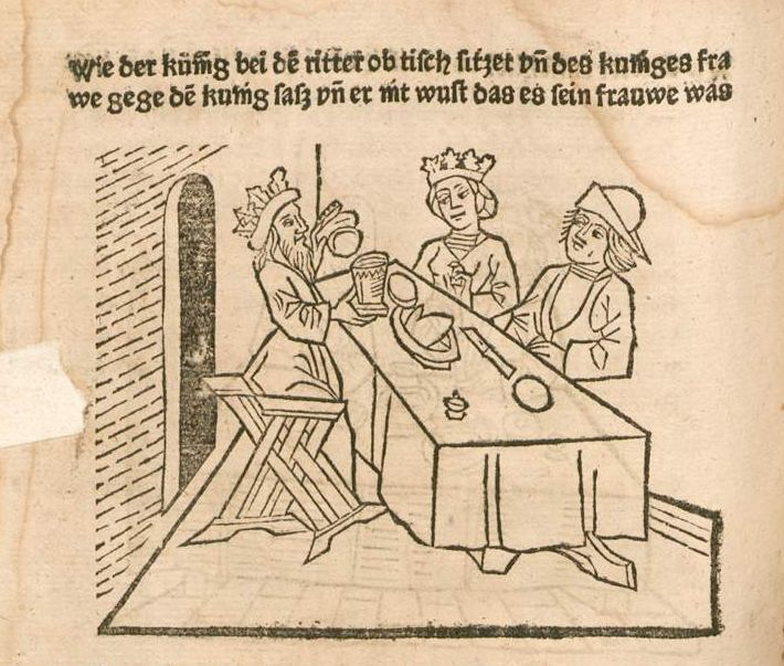 Möbel Strassburg sieben weise meister straßburg 1483 tafelkultur